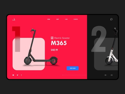 Landing Page Design smart scooter daily ui challenge landing page ui dailyuichallenge landing page design web design dailyui user interface user experience art ux ui 2d dribbble design