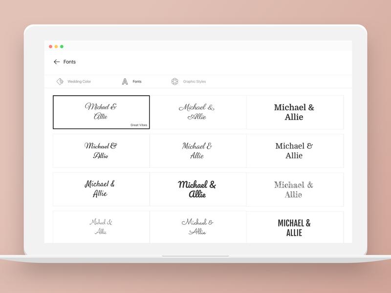 Joy Wedding Website.Wedding Website Typography By Joy On Dribbble