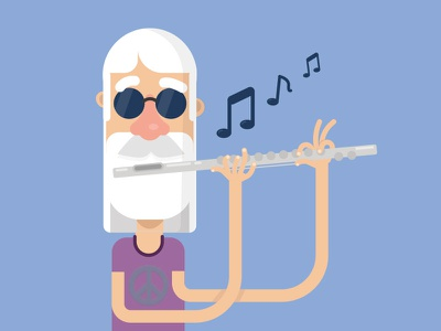 Word Of The Day play melody music love peace hippy flute word of the day