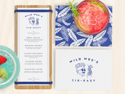 Wild Wes's Tik-Easy californis san francisco drinks tiki bar branding