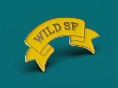 Wild SF Pin san francisco ribbon flag enamel pin