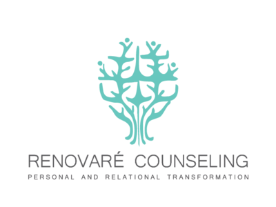 Renovare Counseling health logo organic people icons counseling nature people