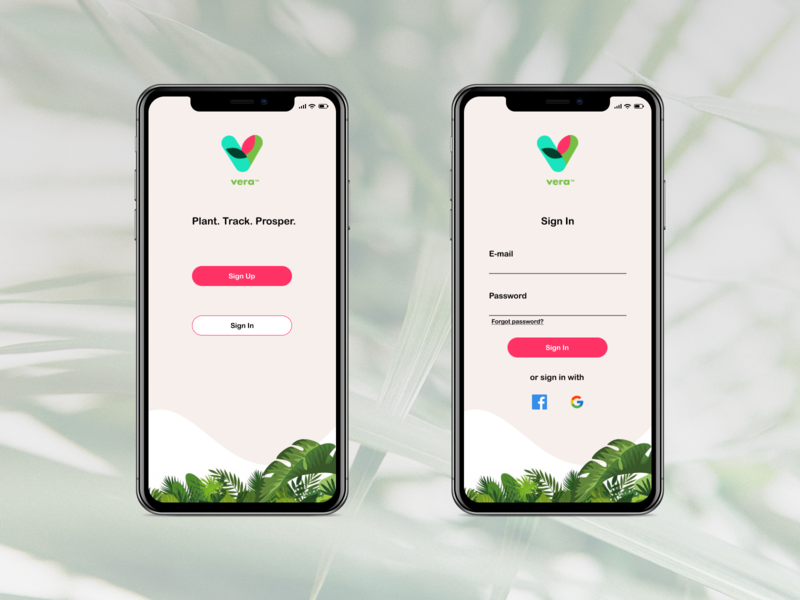 App Sign In Redesign redesigned plant app vera log in sign in