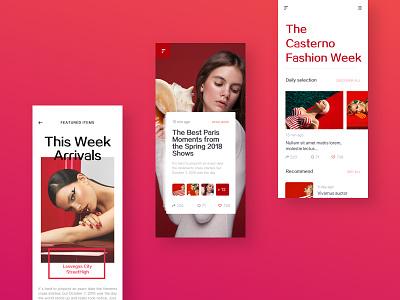 Fashion recommend APP Concept  2 red concept e-commerce fashion