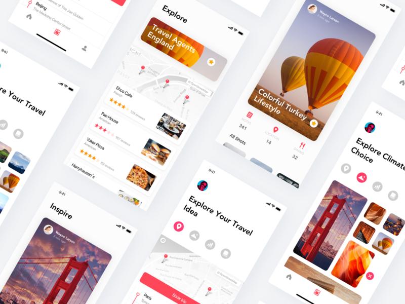 Trip Plan App Concept Page app design trip tripadvisor