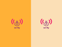 Minimal logo for Wi-Fly