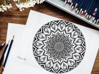 Mandala art digital mandala