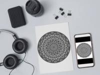 Mandala digital art mandala