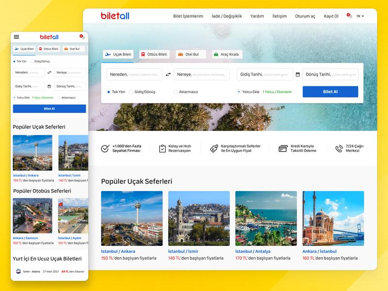 Biletall Redesign ticket booking travel rental car ticket logo ux ui uiux redesign concept holiday flight booking buy tickets brand design biletall