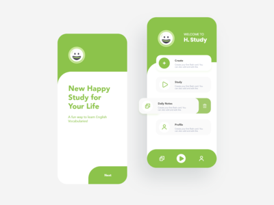 Happy study app UI