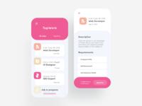 Job portal UI design.
