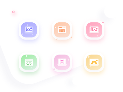 Icons set for a Agency website
