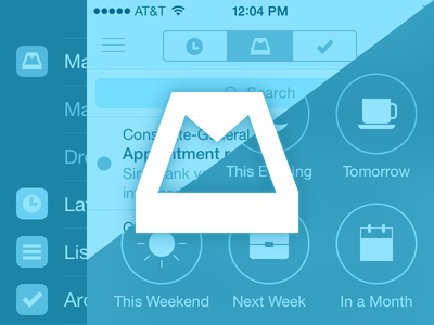Mailbox for iOS 7 mailbox ios7 iphone apple ui mobile email gmail