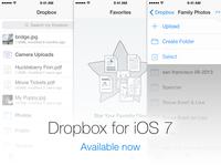 Dropbox for iOS 7