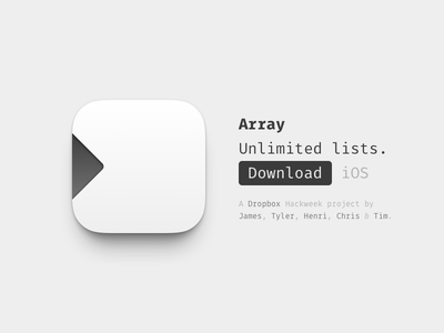 Array dropbox hackweek app icon array lists ios fira