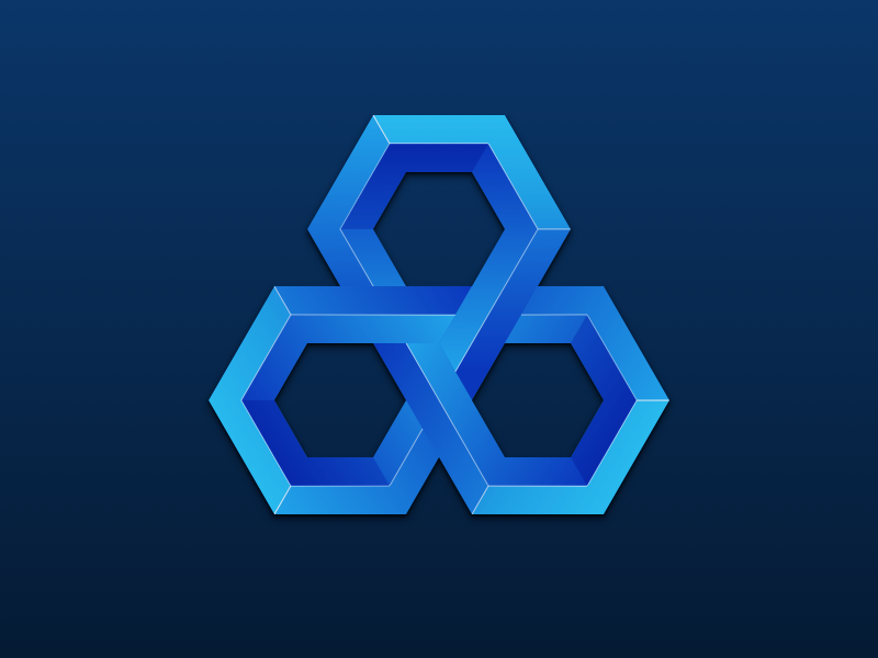 Blues branding flower of life impossible blue icon