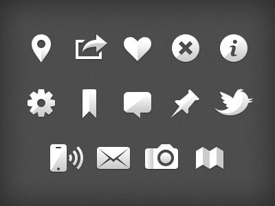 Gowalla iOS Glyphs