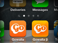 Gowalla for iPhone new icon