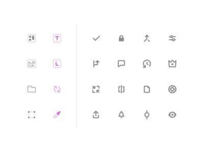 Abstract Icons commit notifications support compare master revert comments settings merge checkmark sketch icons