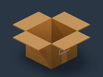 The Box thebox box cardboard tungsten barcode logo