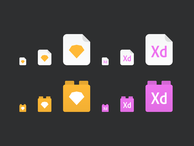 Abstract File Icons sketch xd libraries files icons