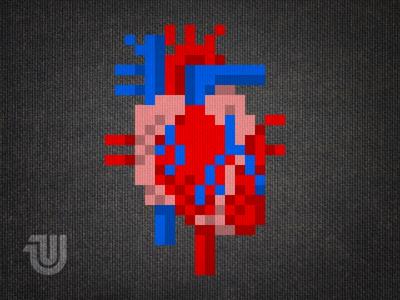 Heart of Pixels heartofpixels pixels pixelart shirt unitedpixelworkers heart