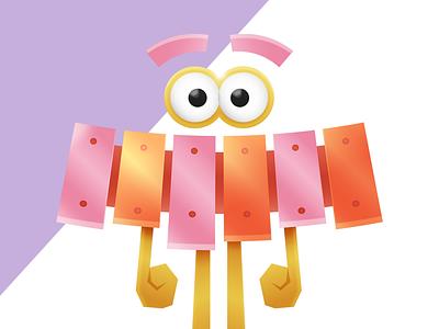 Unused #1 character vector illustration