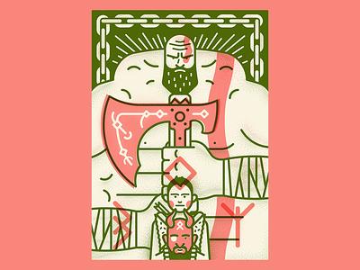 God Of War poster vector illustration