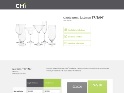 Responsive Sales Tool calculator flatdesign ui ux webdesign