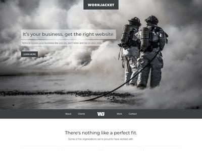 WornJacket Web web design ui