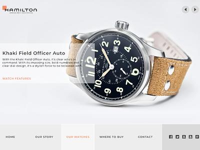 Hamilton Watch product webdesign ui