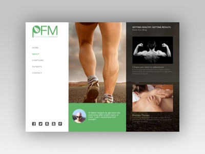 Chiropractor Interface website medicine webdesign ui