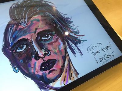 More Apple Store Shenanigans human head art photoshop sketch illustration apple pencil ipad pro apple