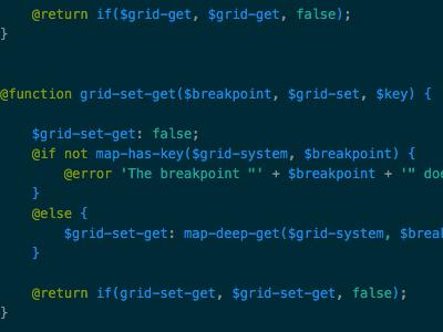 A Teaser. gulp css grid code sass