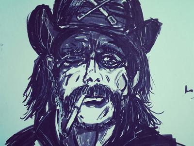 Rest In Power rest in power art brush fineline sketch illustration motörhead lemmy