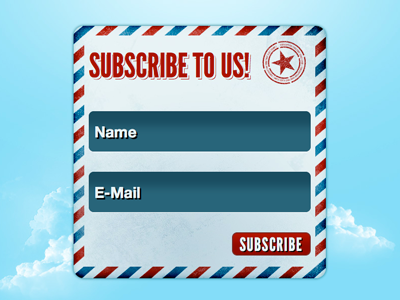 HTML5 Subscription Form (+free Download!) form html5 css3 league gothic mail input texture freebie jquery