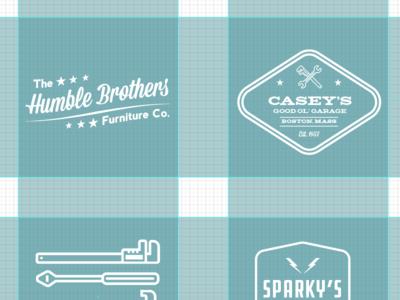 Vintage Logos (WIP) retro typography vintage logo