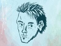 Self–portrait caricature