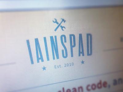 iainspad is finally done! iainspad website css html5 wordpress jquery responsive retina