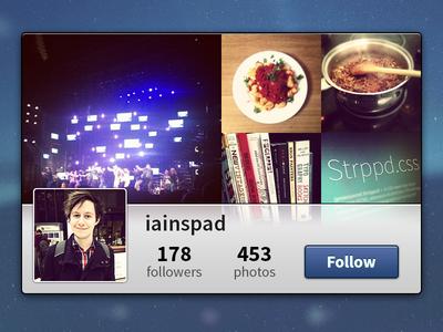 Instawidget instawidget rebound instagram ui simple minimal widget @2x hidpi source sans