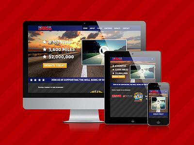 The Run for Veterans responsive css3 html5 web design website mobile non-profit