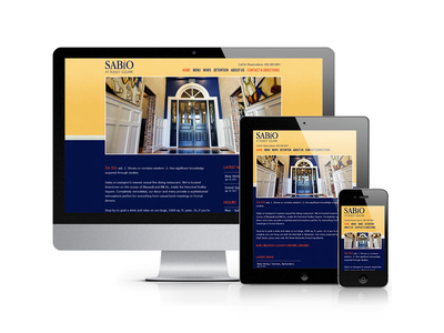 Sabio Restaurant restaurant responsive css3 blue website mobile web design