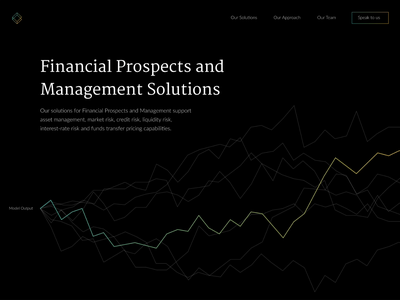 Financial Prospect Management Solutions ui landing motion financial graph transition hero animation
