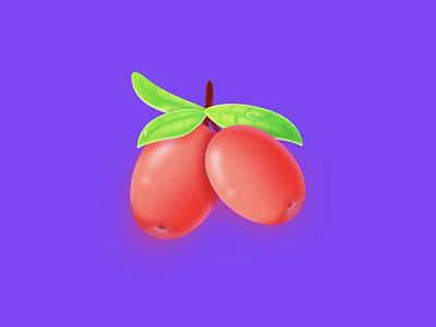 Dates game gift ui icon fruit eid red radaman
