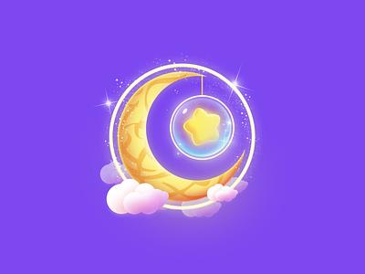 Moon design ui live gift game radaman eid moons icon