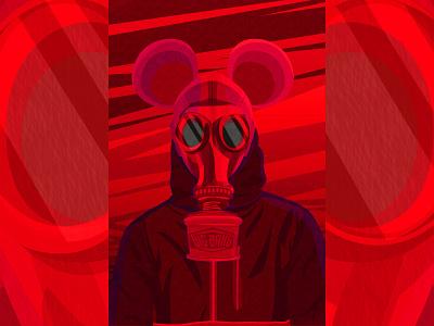 Red Toxic icon illustrator design vector illustration