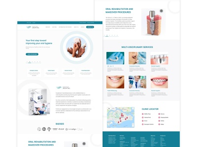 Dental Website Redesign dental clinic dental care dental dental website design branding landing page design redesign landingpage ui freelancer freebie dailyuichallenge dailyui product design