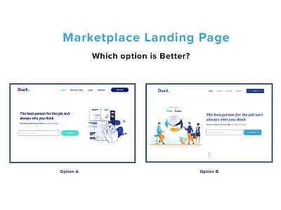 Online market place landing page options website design online marketplace ab testing landing page website product design neomorphism dailyuichallenge ui freebie freelancer dailyui