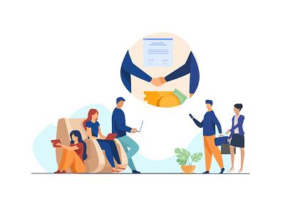 Outsourcing Tasks Online - Illustration vector freebies freelancer illustration online task outsource illustration art illustraion neomorphism adobexd dailyuichallenge product design