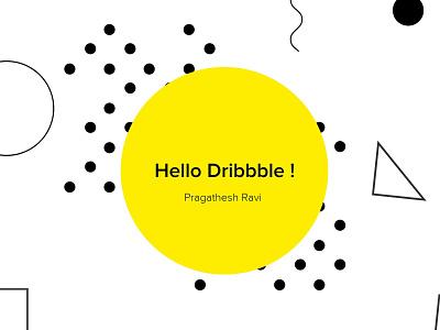 1st Shot - Hello Dribbble illustraion 1st shot